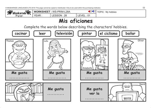 SPANISH KS2 Level 1: Hobbies