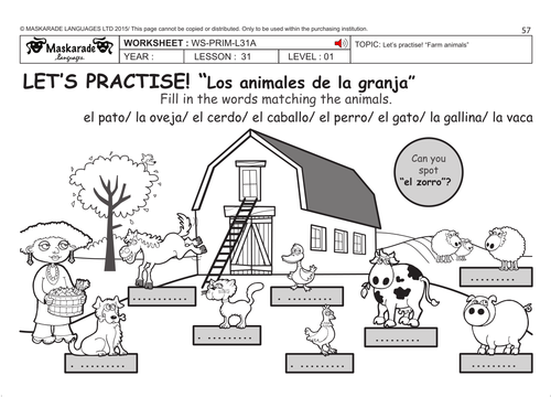Farm Animals Worksheets Pdf