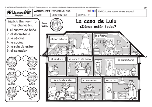 SPANISH KS2 Level 1: My house/ Where are my toys?