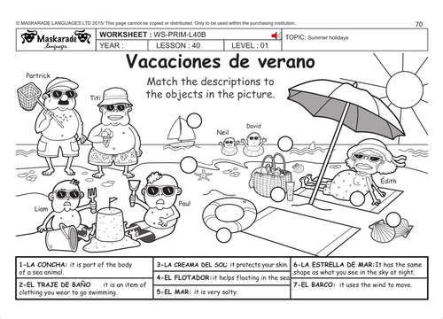 Spanish ks2 level 1 summer holidays whats in your suitcase by spanish ks2 level 1 summer holidays whats in your suitcase by maskaradelanguages teaching resources tes ibookread Read Online