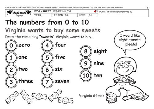 Maskaradelanguages's Shop - Teaching Resources - TES Old English Numbers 1 10