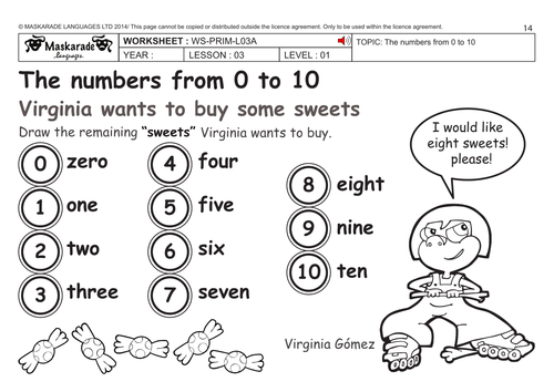 ENGLISH KS2 Level 1: Numbers 0 to 10/ How old are you?