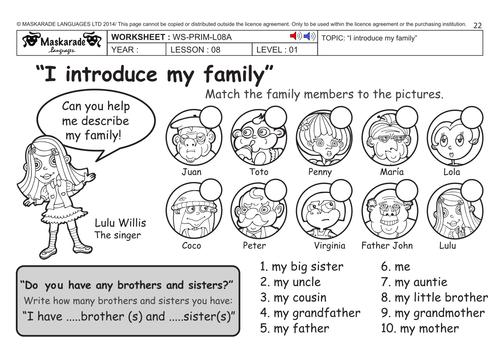 ENGLISH KS2 Level 1: My family