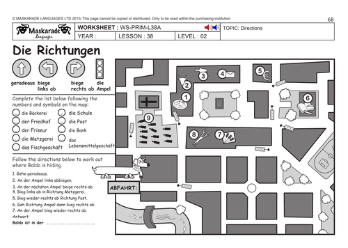 german ks2 level 2 directions the park by maskaradelanguages teaching resources. Black Bedroom Furniture Sets. Home Design Ideas
