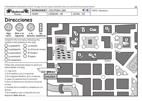 spanish ks2 level 2 directions park by maskaradelanguages teaching resources tes. Black Bedroom Furniture Sets. Home Design Ideas