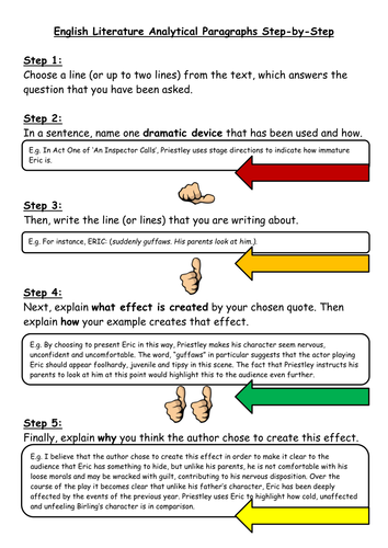 A Step-by-Step Guide to Writing Analytical Paragraphs (Literature)