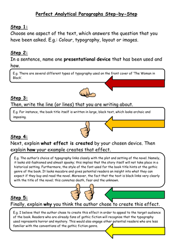 A Step-by-Step Guide to Writing Analytical Paragraphs (Language or Media)