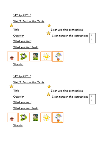 time connectives for instructions ks2