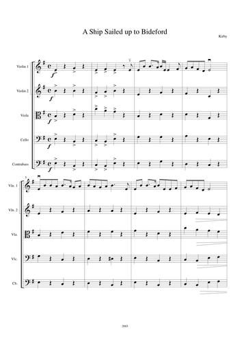 Three Modern Folk Songs for Strings