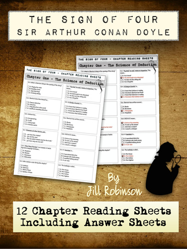 Sign of Four - Conan Doyle - Chapter Worksheets