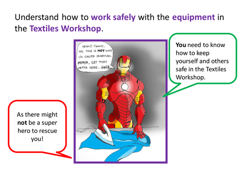 Introduction to H&S in the Textile Workshop