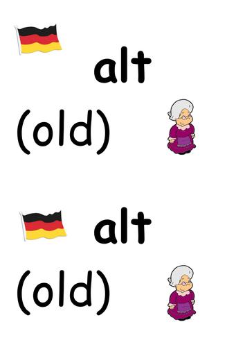 German adjectives display
