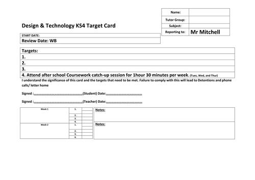 AQA KS4 Design & Technology assessment resources