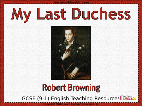 an overview of the poem my last duchess by robert browning