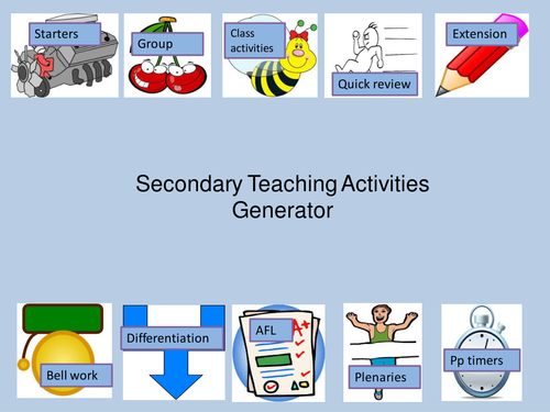 secondary generic lesson activities