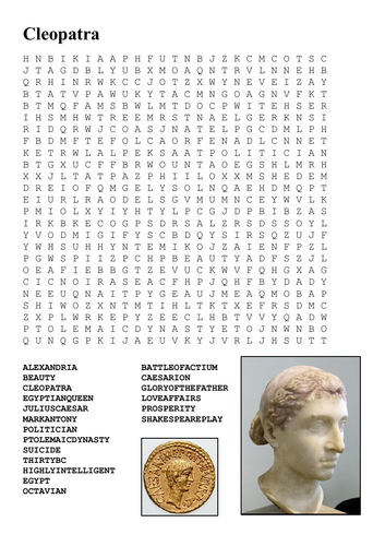 Cleopatra Word Search