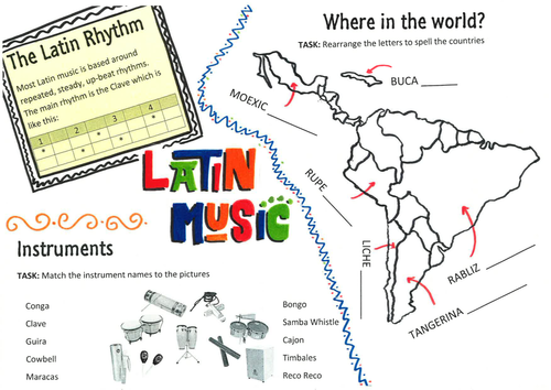 Latin Music Starter Worksheet