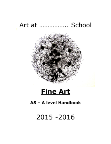 The New AS and A level Art Student Handbook 2017-18 by