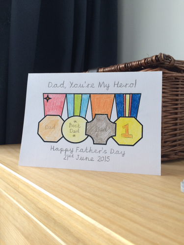Father's Day - Card Templates. I love you this much & Medals