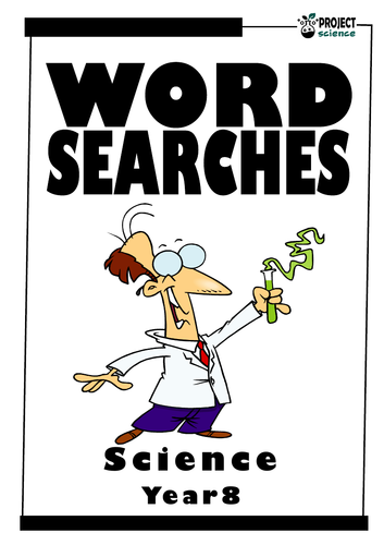 Year 8 Science Word Searches