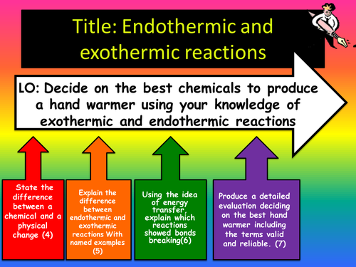 Worksheets Exothermic And Endothermic Reactions Worksheet endothermic and exothermic reactions the best handwarmer by clairebabe teaching resources tes