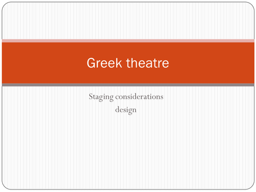 Electra - revision ppt on character and staging