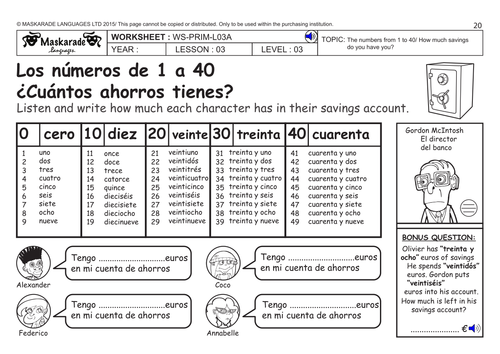 common worksheets spanish numbers worksheet preschool and kindergarten worksheets. Black Bedroom Furniture Sets. Home Design Ideas