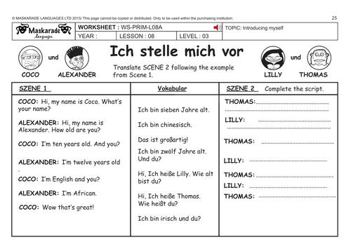 german ks2 level 3 ks3 year 7 my family tree introducing yourself by maskaradelanguages. Black Bedroom Furniture Sets. Home Design Ideas