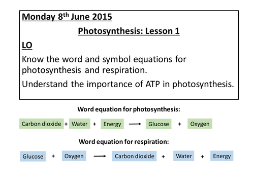 Photosynthesis AQA A2 Unit4