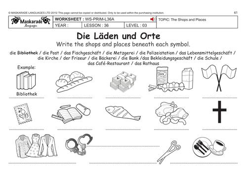 german ks2 level 3 ks3 year 7 shops and places by maskaradelanguages teaching resources tes. Black Bedroom Furniture Sets. Home Design Ideas