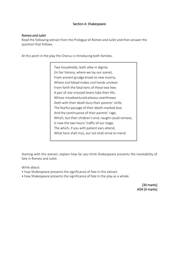 an inspector calls practice essay questions by timgoundry aqa english literature 2015 romeo juliet practice exam materials