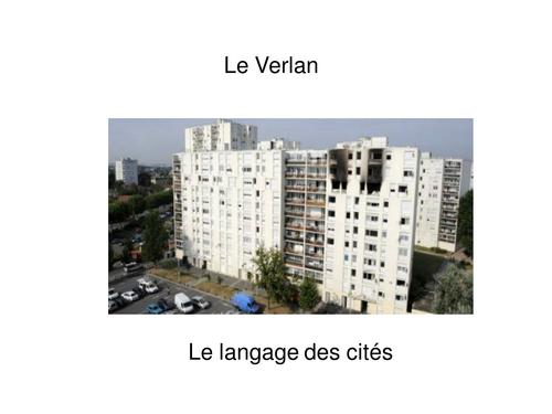 Le verlan / French street language