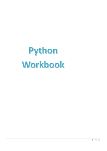 Python Workbook containing tasks and projects - From prints all the way to looping