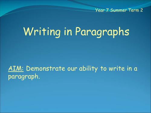 Paragraphs - An Introduction
