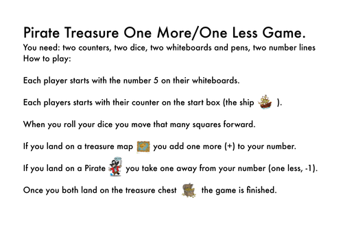 Pirate one more one less board game