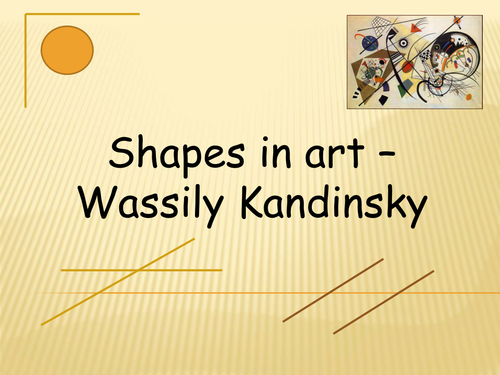Angles and shapes found in art