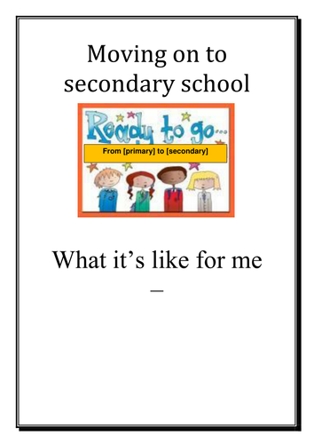 Changing School / Class - Transition Worksheet by starfish1954 ...