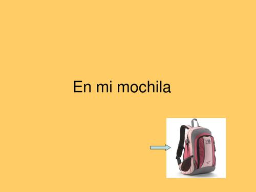 En mi mochila /In my bag