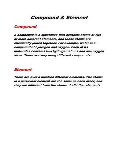 Compound & Element