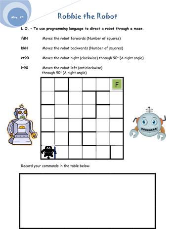 Logo\' written commands worksheet by Alisonwales - Teaching Resources ...