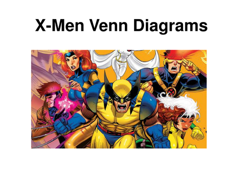 X Men Venn Diagrams By Alutwyche Teaching Resources Tes