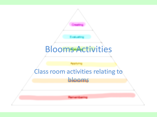 differentiated activies related to blooms