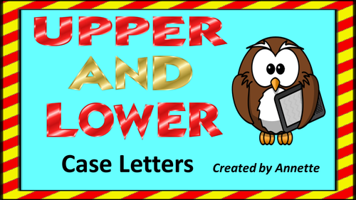 Upper and Lower case letters.