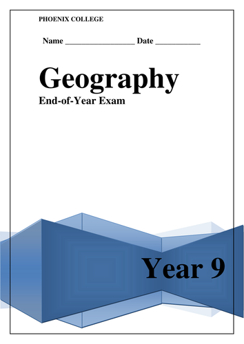 Fun End of Year Geography Assessments