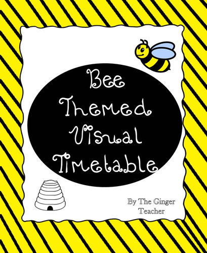 Bee Themed Visual Timetable Display
