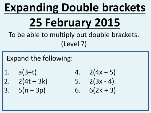 Expanding double brackets