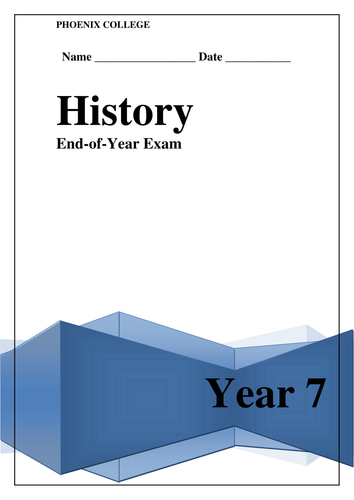 Fun End of Year History Assessment