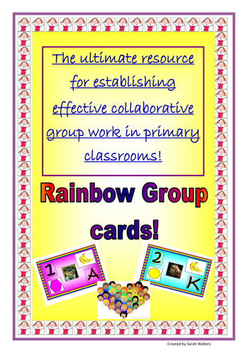 Rainbow Group cards - The ultimate classroom resource for effective collaborative Learning
