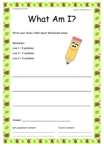 Tennis – Wimbledon themed literacy and numeracy activities