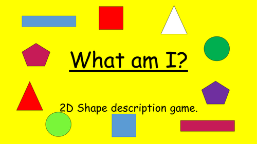 2D shape game